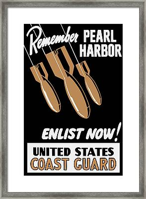 Enlist Now - United States Coast Guard Framed Print by War Is Hell Store
