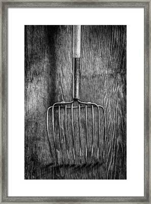 Ensilage Fork Down Framed Print by YoPedro