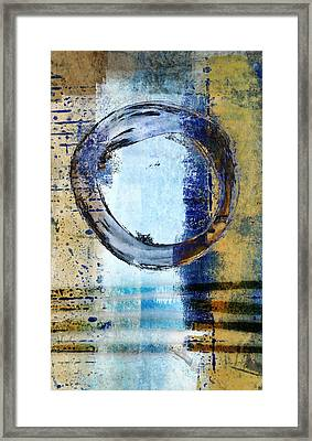 Enso Circle In Glass Framed Print by Carol Leigh