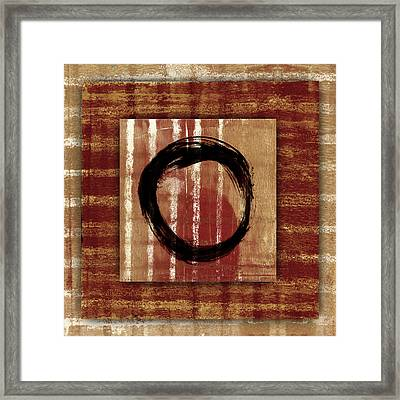 Enso Layers Framed Print by Carol Leigh