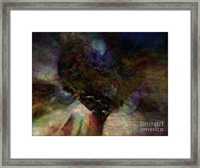 Entangled Heart Framed Print by Wbk