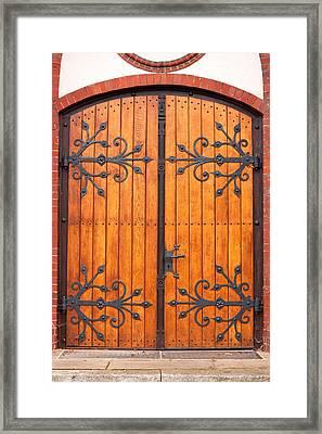 Entrance Door Framed Print by Boyan Dimitrov