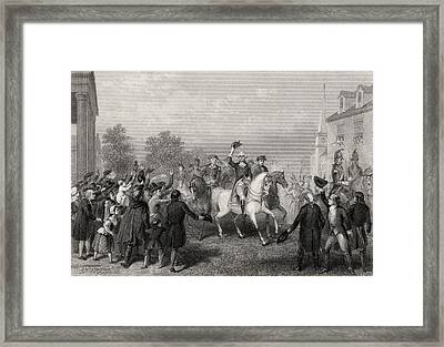 Entrance Of The American Army Into New Framed Print by Vintage Design Pics