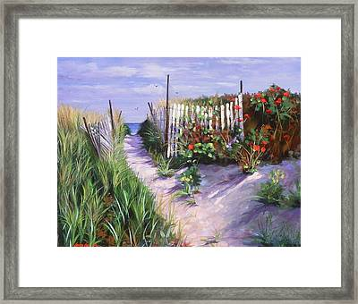 Entrance To Nantasket Framed Print by Laura Lee Zanghetti