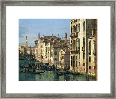 Entrance To The Grand Canal Looking West Framed Print by Canaletto