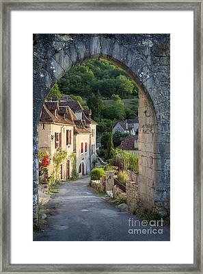 Entry Gate To Saint-cirq-lapopie Framed Print by Brian Jannsen
