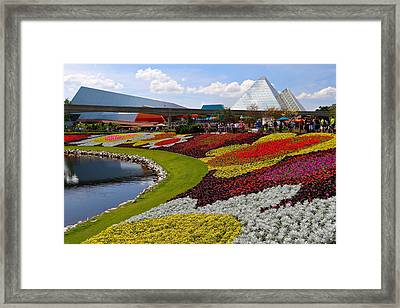 Epcot Gardens Framed Print by Denise Mazzocco