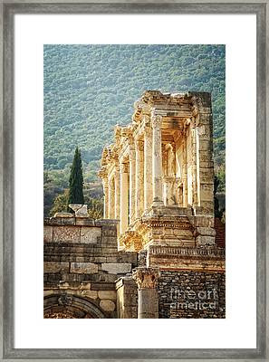 Ephesus - Library Of Celsus Framed Print by HD Connelly
