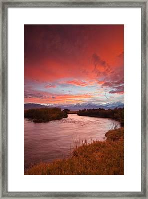 Epic Owens River Sunset Framed Print by Nolan Nitschke