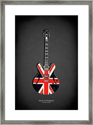 Epiphone Union Jack Framed Print by Mark Rogan