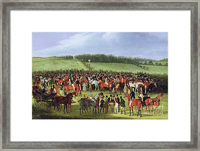 Epsom Races - The Betting Post Framed Print by James Pollard