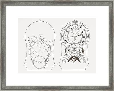 Equation Clock By Enderlin. From The Framed Print by Vintage Design Pics