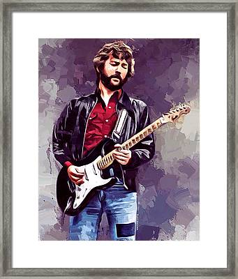 Eric Clapton Painting Framed Print by Scott Wallace