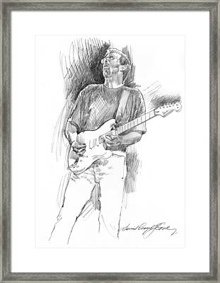 Eric Clapton Strat Framed Print by David Lloyd Glover