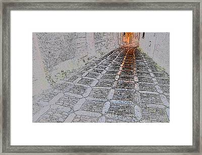 Erice Alley Framed Print by Leon Werdinger