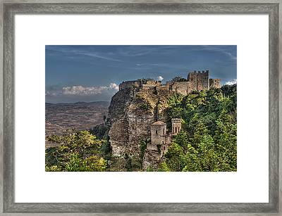 Erice Sicily Castle Framed Print by Terry Pridemore