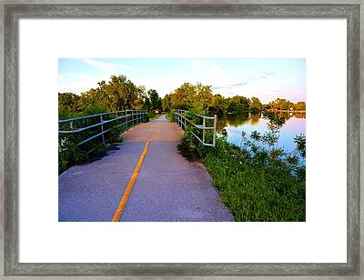 Erie Canal Bridge Framed Print by Richard Jenkins