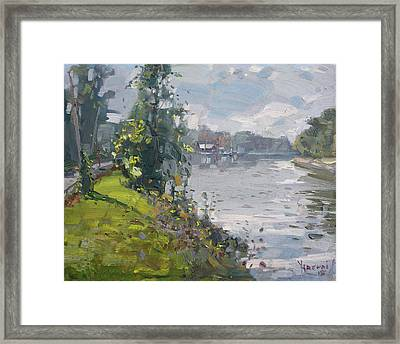Erie Canal Framed Print by Ylli Haruni