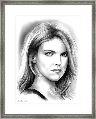 Erin Richards Framed Print by Greg Joens