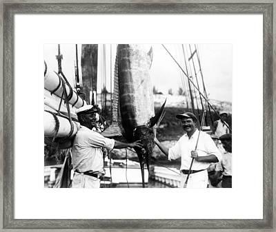 Ernest Hemingway 1899-1961, Posed Framed Print by Everett