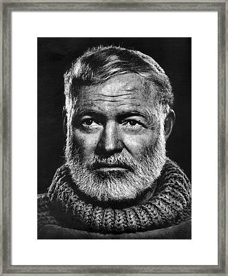 Ernest Hemingway Framed Print by Daniel Hagerman