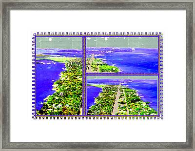 Erotic Green And Exotic Blues From Located 90 Miles South Of Miami On The Island Chain Of Islamorada Framed Print by Navin Joshi