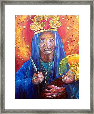 Erzulie Dantor Portrait Framed Print by Christy  Freeman