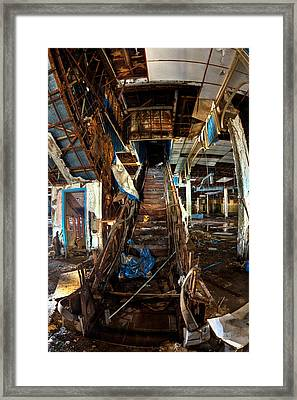 Escalator Empathy Framed Print by Joshua Ball
