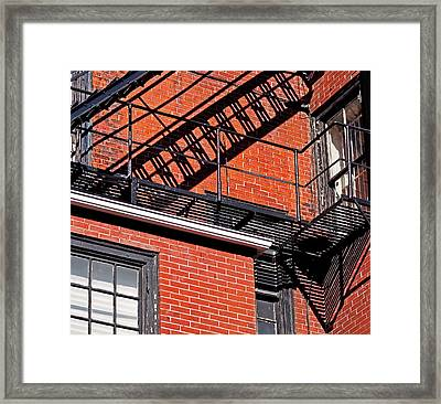 Escape Angles Framed Print by Rona Black