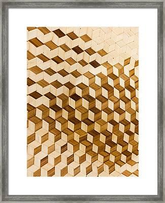 Escher-esque Basketweave Framed Print by Hakon Soreide