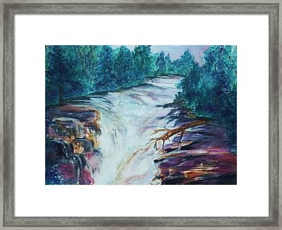 Esopus Creek Framed Print by Ellen Levinson