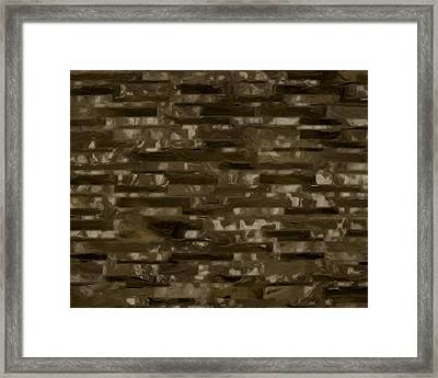 Espresso Brown Marble Collection Framed Print by Lee Ann Asch