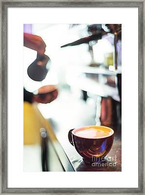 Espresso Expresso Italian Coffee Cup With Machine  Framed Print by Jacek Malipan