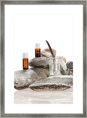 Essential Oil From Vanilla Framed Print by Wolfgang Steiner