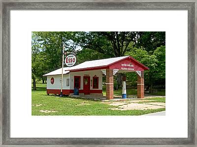 Esso Station Framed Print by Greg Joens