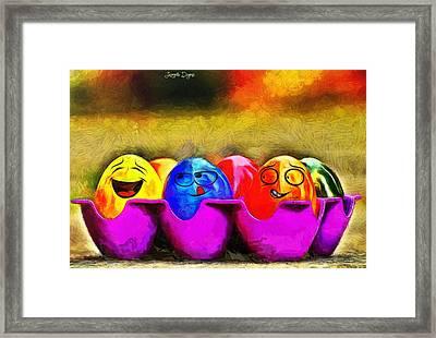 Ester Eggs - Da Framed Print by Leonardo Digenio