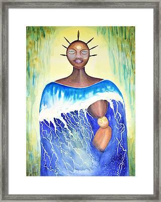 Estuary Framed Print by Anoa Kanu