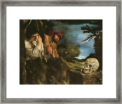 Et In Arcadia Ego Framed Print by Giovanni Francesco Barbieri