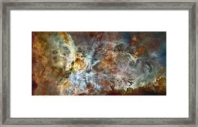 Eta Carinae Nebula, Hst Image Framed Print by Nasaesan. Smith (university Of California, Berkeley)hubble Heritage Team (stsciaura)