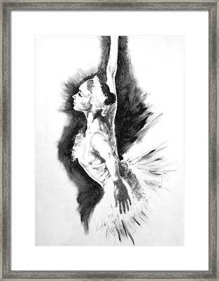Ethereal Black And White Ballerina Poster 3  - By Diana Van Framed Print by Diana Van