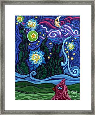 Etoile Noire Bleu Framed Print by Genevieve Esson
