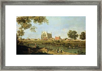 Eton College Framed Print by Canaletto