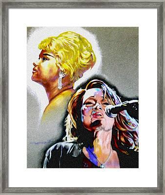 Etta James Framed Print by Christopher Martinez
