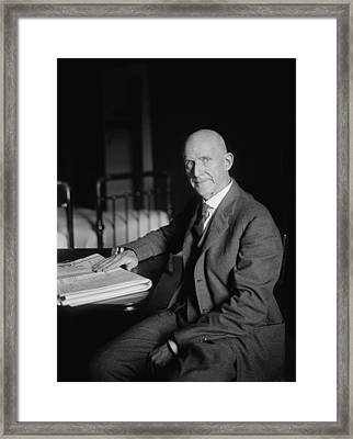 Eugene Debs Framed Print by War Is Hell Store