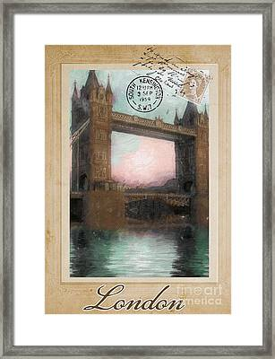 European Vacation Postcard London Framed Print by Mindy Sommers