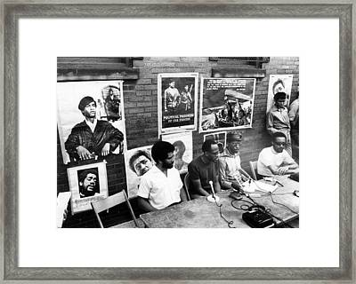 Ev1817 - Black Panther Party Press Framed Print by Everett