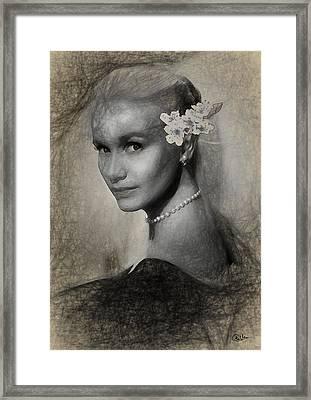 Eva Marie Saint Framed Print by Quim Abella