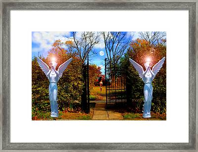 Eve In The Garden Of Eden Framed Print by Michael Rucker