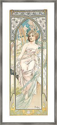 Eveil Du Matin Framed Print by Alphonse Marie Mucha
