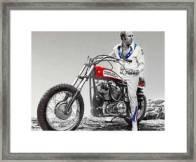 Evel Knievel Painting Spot Color Small Framed Print by Tony Rubino